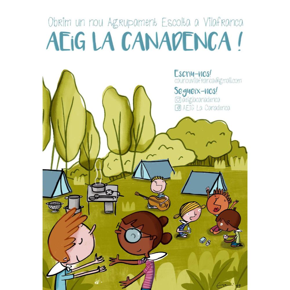 """Carteel Agrupament Escolta """"La Canadenca"""""""